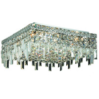 Elegant Lighting Maxim 6 Light Flush Mount in Chrome with Spectra Swarovski Clear Crystal 2033F16C/SA
