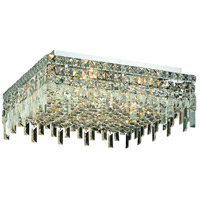 Elegant Lighting Maxim 12 Light Flush Mount in Chrome with Swarovski Strass Clear Crystal 2033F20C/SS