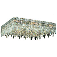 Elegant Lighting Maxim 13 Light Flush Mount in Chrome with Swarovski Strass Clear Crystal 2033F24C/SS