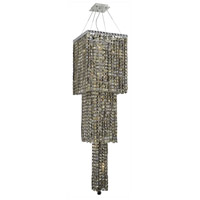 Elegant Lighting Maxim 14 Light Foyer in Chrome with Swarovski Strass Golden Teak Crystal 2033G54C-GT/SS