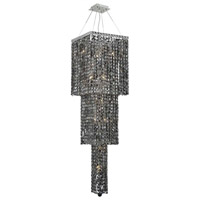 Elegant Lighting Maxim 14 Light Foyer in Chrome with Swarovski Strass Silver Shade Crystal 2033G54C-SS/SS