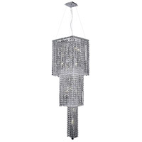 Elegant Lighting Maxim 14 Light Foyer in Chrome with Swarovski Strass Clear Crystal 2033G54C/SS