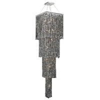 Elegant Lighting Maxim 18 Light Foyer in Chrome with Swarovski Strass Silver Shade Crystal 2033G66C-SS/SS