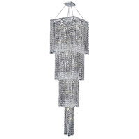 Elegant Lighting Maxim 18 Light Foyer in Chrome with Swarovski Strass Clear Crystal 2033G66C/SS