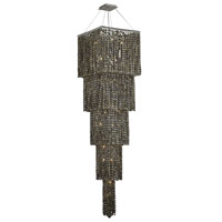 Elegant Lighting Maxim 22 Light Foyer in Chrome with Swarovski Strass Golden Teak Crystal 2033G80C-GT/SS