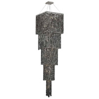 Elegant Lighting Maxim 22 Light Foyer in Chrome with Swarovski Strass Silver Shade Crystal 2033G80C-SS/SS