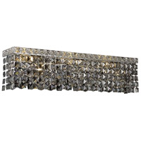 Elegant Lighting Maxim 4 Light Vanity in Chrome with Swarovski Strass Silver Shade Crystal 2033W18C-SS/SS