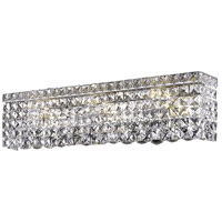 Elegant Lighting Maxim 4 Light Vanity in Chrome with Elegant Cut Clear Crystal 2033W18C/EC