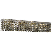 Elegant Lighting Maxim 8 Light Vanity in Chrome with Swarovski Strass Golden Teak Crystal 2033W36C-GT/SS