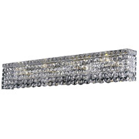 Elegant Lighting Maxim 8 Light Vanity in Chrome with Swarovski Strass Clear Crystal 2033W36C/SS