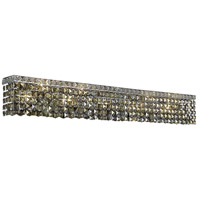 Elegant Lighting Maxim 10 Light Vanity in Chrome with Swarovski Strass Golden Teak Crystal 2033W44C-GT/SS
