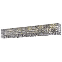 Elegant Lighting Maxim 10 Light Vanity in Chrome with Swarovski Strass Clear Crystal 2033W44C/SS