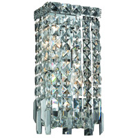 Elegant Lighting Maxim 2 Light Wall Sconce in Chrome with Swarovski Strass Clear Crystal 2033W6C/SS