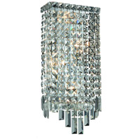 Elegant Lighting Maxim 4 Light Wall Sconce in Chrome with Royal Cut Clear Crystal 2033W8C/RC