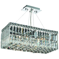 Elegant Lighting Maxim 4 Light Dining Chandelier in Chrome with Elegant Cut Clear Crystal 2034D20C/EC