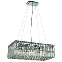 Elegant Lighting Maxim 6 Light Dining Chandelier in Chrome with Royal Cut Clear Crystal 2034D24C/RC