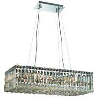 Elegant Lighting Maxim 16 Light Dining Chandelier in Chrome with Elegant Cut Clear Crystal 2034D28C/EC