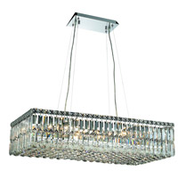 Elegant Lighting Maxim 16 Light Dining Chandelier in Chrome with Elegant Cut Clear Crystal 2034D32C/EC