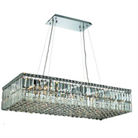Elegant Lighting Maxim 16 Light Dining Chandelier in Chrome with Elegant Cut Clear Crystal 2034D36C/EC
