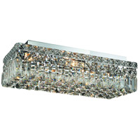 Elegant Lighting Maxim 4 Light Flush Mount in Chrome with Swarovski Strass Clear Crystal 2034F20C/SS