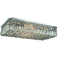 Elegant Lighting Maxim 6 Light Flush Mount in Chrome with Royal Cut Clear Crystal 2034F24C/RC