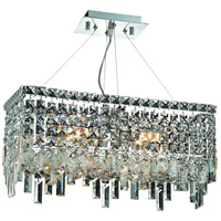 Elegant Lighting Maxim 4 Light Dining Chandelier in Chrome with Royal Cut Clear Crystal 2035D20C/RC