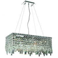 Elegant Lighting Maxim 6 Light Dining Chandelier in Chrome with Swarovski Strass Clear Crystal 2035D24C/SS alternative photo thumbnail