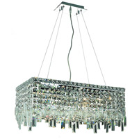 Elegant Lighting Maxim 6 Light Dining Chandelier in Chrome with Swarovski Strass Clear Crystal 2035D24C/SS
