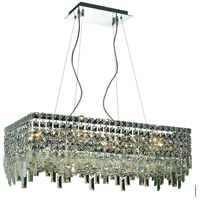 Elegant Lighting Maxim 16 Light Dining Chandelier in Chrome with Royal Cut Clear Crystal 2035D28C/RC