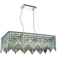 Elegant Lighting Maxim 16 Light Dining Chandelier in Chrome with Elegant Cut Clear Crystal 2035D32C/EC