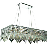 Elegant Lighting Maxim 16 Light Dining Chandelier in Chrome with Elegant Cut Clear Crystal 2035D36C/EC