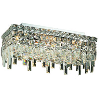 Elegant Lighting Maxim 4 Light Flush Mount in Chrome with Spectra Swarovski Clear Crystal 2035F16C/SA