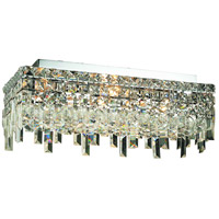 Elegant Lighting Maxim 4 Light Flush Mount in Chrome with Swarovski Strass Clear Crystal 2035F20C/SS