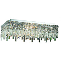Elegant Lighting Maxim 6 Light Flush Mount in Chrome with Swarovski Strass Clear Crystal 2035F24C/SS