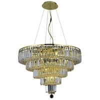 Elegant Lighting V2036D26G/SS Maxime 14 Light 26 inch Gold Dining Chandelier Ceiling Light in Clear Swarovski Strass