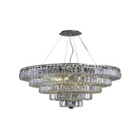 Elegant Lighting 2036D30C/EC Maxim 17 Light 30 inch Chrome Dining Chandelier Ceiling Light in Clear, Elegant Cut alternative photo thumbnail