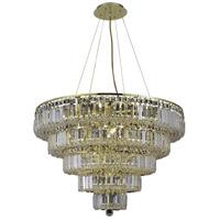 Elegant Lighting V2036D30G/SS Maxime 17 Light 30 inch Gold Dining Chandelier Ceiling Light in Clear Swarovski Strass