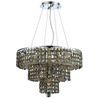 Elegant Lighting Maxim 9 Light Dining Chandelier in Chrome with Royal Cut Golden Teak Crystal 2037D20C-GT/RC