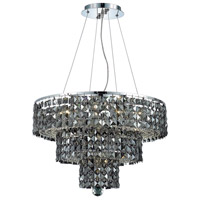 Elegant Lighting Maxim 9 Light Dining Chandelier in Chrome with Swarovski Strass Silver Shade Crystal 2037D20C-SS/SS