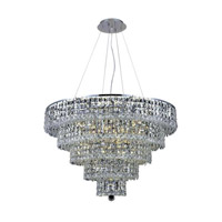 Elegant Lighting 2037D30C/EC Maxime 17 Light 30 inch Chrome Dining Chandelier Ceiling Light in Clear, Elegant Cut alternative photo thumbnail