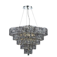 Elegant Lighting Maxim 17 Light Dining Chandelier in Chrome with Swarovski Strass Silver Shade Crystal 2037D30C-SS/SS alternative photo thumbnail