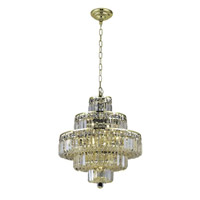 Elegant Lighting 2038D20G/RC Maxime 13 Light 20 inch Gold Dining Chandelier Ceiling Light in Clear, Royal Cut alternative photo thumbnail