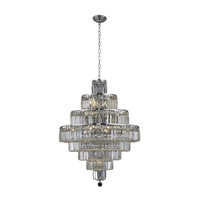Elegant Lighting Maxim 18 Light Dining Chandelier in Chrome with Spectra Swarovski Clear Crystal 2038D26C/SA alternative photo thumbnail