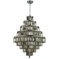 Elegant Lighting 2038D30C-GT/SS Maxim 20 Light 30 inch Chrome Dining Chandelier Ceiling Light in Golden Teak, Swarovski Strass alternative photo thumbnail
