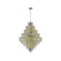 Elegant Lighting 2038D30G/SA Maxim 20 Light 30 inch Gold Dining Chandelier Ceiling Light in Clear, Spectra Swarovski alternative photo thumbnail