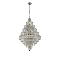 Elegant Lighting 2038D32C/SA Maxime 30 Light 32 inch Chrome Dining Chandelier Ceiling Light in Clear, Spectra Swarovski alternative photo thumbnail