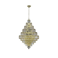 Elegant Lighting 2038D32G/SA Maxim 30 Light 32 inch Gold Dining Chandelier Ceiling Light in Clear, Spectra Swarovski alternative photo thumbnail