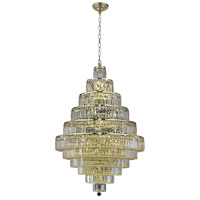 Elegant Lighting Maxim 30 Light Dining Chandelier in Gold with Elegant Cut Clear Crystal 2038D32G/EC
