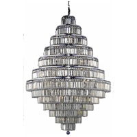 Elegant Lighting Maxim 38 Light Foyer in Chrome with Swarovski Strass Golden Teak Crystal 2038G42C-GT/SS