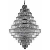 Maxime 38 Light 42 inch Chrome Foyer Ceiling Light in Clear, Elegant Cut
